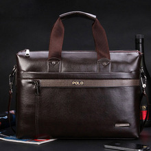 2017 New Fashion pu Leather Bags for Men famous brand POLO Men's Shoulder Bag Leather Messenger Bag briefcase sac a main Bolsa
