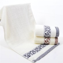 1Pc Luxury Face Towel 34*75cm linge de toilette Super Soft 100% Cotton Towel Brand Home Bathroom Accessories(China)