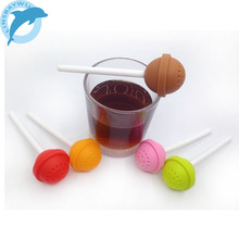 Silicon Sweet Tea Infuser Candy Lollipop Loose Leaf Mug Strainer Cup Steeper LINSBAYWU