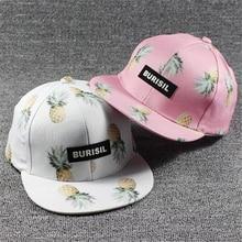 2017 Korean Women Hip Hop Baseball Cap Fruit pineapple Summer Men s Sun Hat  Teen Lady s snapback Caps suit for teens adults 95b2964815e3
