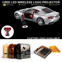 Car Door Courtesy Welcome Projector Light Laser Texas T-ech Red Raid-ers GOBO Logo Light Ghost Shadow Puddle Emblem Spotlight(China)