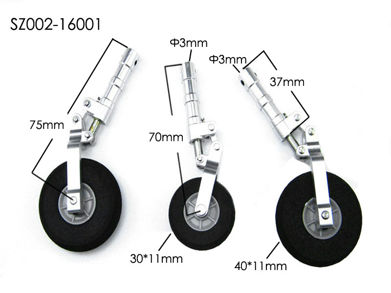Aluminum Alloy Undercarriage Anti-vibration Landing Gear For Class 120 Airplane<br>