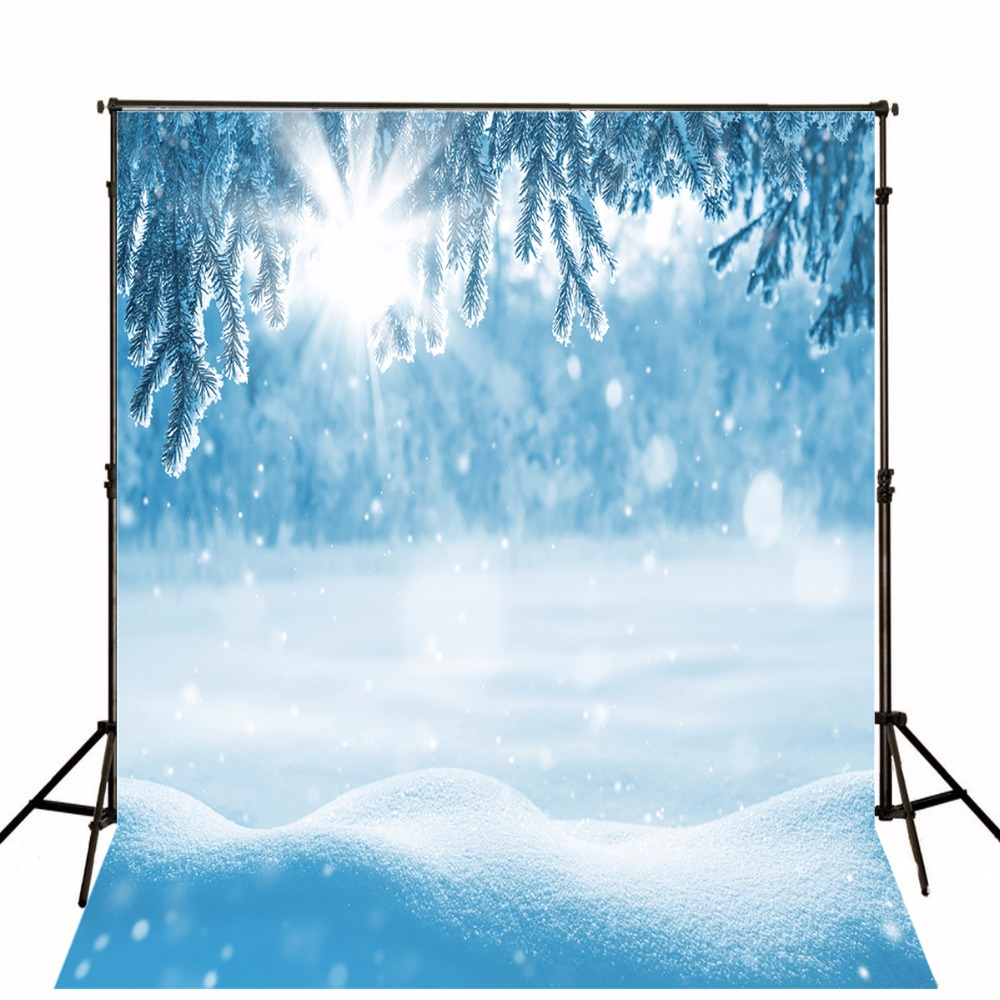 Frozen Thick Snow Winter Sun backdrops High-grade Vinyl cloth Computer printed custom Photography Backgrounds<br><br>Aliexpress