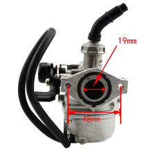 GOOFIT PZ19 19mm Motorcycle Carburetor 50cc 70cc 90cc 110cc 125cc ATV Dirt Bike Go Kart Carb Choke Taotao carburettor N090-066(China)