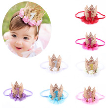 1 PC Stylish Newborn Kids Princess Crown Headband Hair Band Headwear
