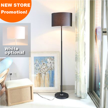 New store promotion home family hotel decoration white black flax fibre fabric shade mordern floor lamp light(China)