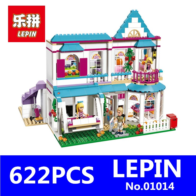 LEPIN 01014 622Pcs Genuine Good Friend Girls Series The Stephanies House Set Building Blocks Bricks Educational Toys Gift 41314<br>