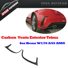 W176 Carbon Fiber Rear Bumper Trim Vents Flics Exterior Mercedes Benz A45 AMG 2014 2015 2016 - JUN-CHI Official Store store