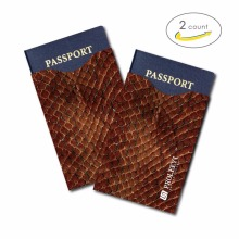 Passport Protection Aluminum Wallet Card Holder Case 2 Pcs Anti Scan RFID Blocking Sleeves Secure Contactless Debit IC ID Card