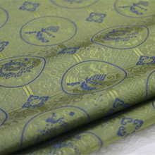 CF122 1Yard 140cm Silk Fabric Chinese Style Brocade Jacquard Fabric For Men Chinese Packing Decorative Cloth Curtain Fabric(China)