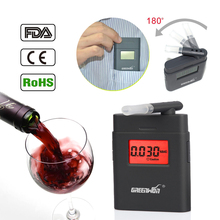2017 Prefessional Police Portable Breath Alcohol Analyzer Digital Breathalyzer Tester Body Alcoholicity Meter Alcohol Detection