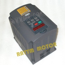 New 1.5kw 380V Variable Frequency Drive VFD Inverter 5A Input 3 phase & Extension cable control panel box(China)