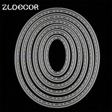 ZLDECOR Oval Shape Metal Cutting Dies Stencils for DIY Scrapbooking/photo album Decorative Embossing DIY Paper Cards