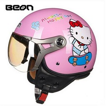 women four seasons motorcycle , BEON 100 motocross MOTO electric bicycle safety headpiece scoote  dirt bike pink cat