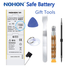 2017 New Original NOHON Battery For iPhone 5 iPhone5 1590mAh High Capacity Cell Phone Batteries With Retail Package Repair Tools