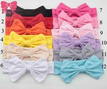 Newborn Cute  Headband Bandana Comfortable Bandeau Turban Girls Hair Bow Band kids Hair Accessories 12Pcs/lot