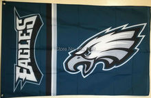 Philadelphia Eagles wordmack column black Flag3x5FT NFL banner150X90CM 100D Polyester brass grommets custom flag, Free Shipping(China)