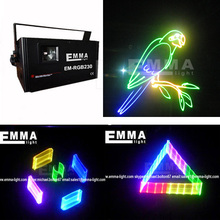 1W Shinp Red Green Blue RGB DMX 512 Animation ILDA Laser light Stage CLUB