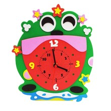 Children Educational DIY Alarm Clock EVA Puzzle Baby Kids Early Learning Toys(China)
