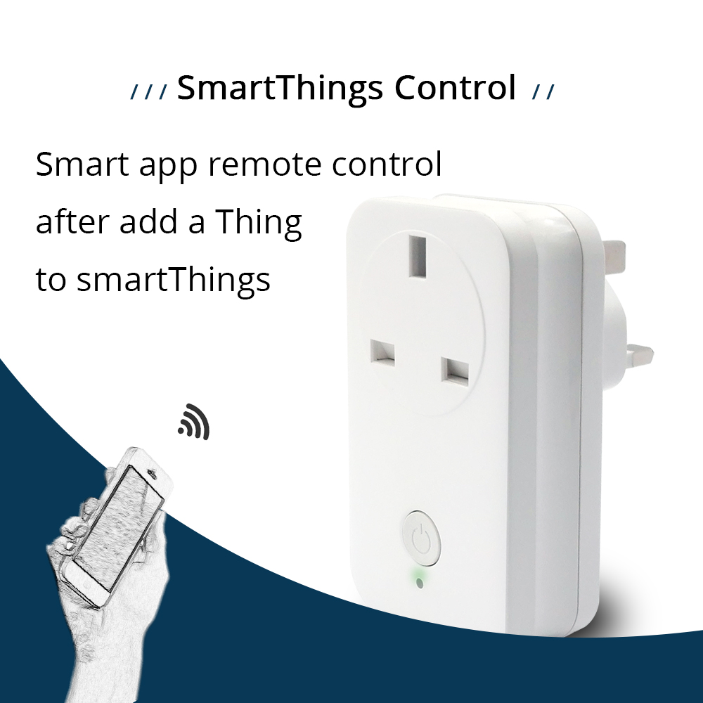 Zigbee 3.0 UK Power Socket Compatible With SamrtThings Echo Plus Smart Gadget Switch Wireless Phone APP Remote Outlet(11)