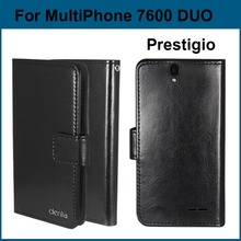 In Stock! Ultra-thin PU Leather Protective Phone Case For Prestigio MultiPhone 7600 Duo Cover Tracking(China)