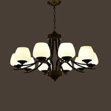 HGHomeart E27 Antique Retro Iron Classic Contemporary Chandeliers LED Living Room Chandelier Baby Suspension Lamp Home Lighting(China)