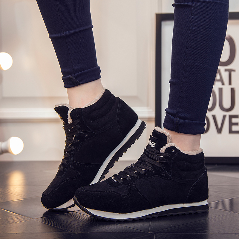 Winter Snow Boots Flat Shoes Mens Thermal High Increased Plush Warm Unisex Fashion Casual Men Cotton Shoes Big Size 35-48<br><br>Aliexpress