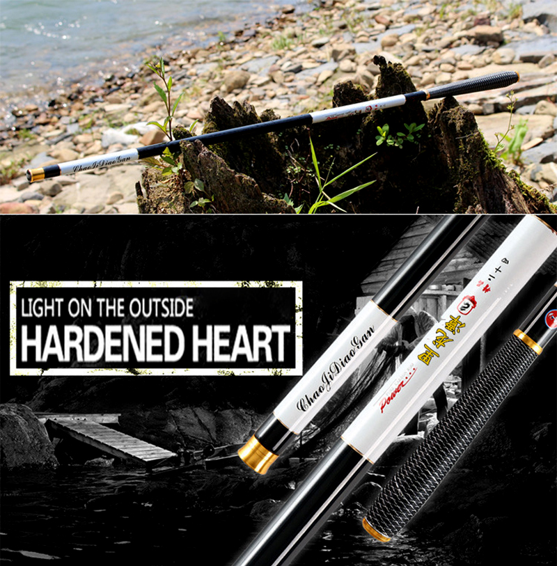 17NEW Ultra-light high-carbon 3.6/4.5/5.4/ 6.3/7.2Meter telescopic metal rod carp fishing rod hand pole fishing tackle 1