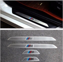 Stainless Steel  Door Sill Scuff Plate Trim Slim Courtesy Pedal  for BMW X1 X3 X6 5/1/3/7 Series 2009-2014 8z1206