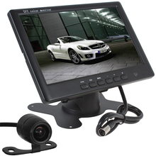 Super Thin HD 800 x 480 7 Inch Color TFT LCD 2 Channels Video Input Car Rear View Monitor + E306 18mm Color CMOS/CCD Car Camera