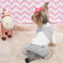 Kawaii Pet Shop Korean Style Dog Jumpsuits Rompers Pet Clothes Dog Pajamas Clothes for Dogs Couple Dog Clothes Hot Sale 16ZF66