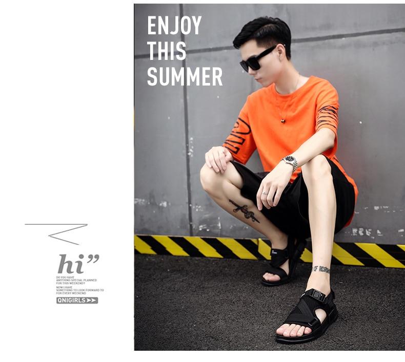 Slippers Men's Sandals Men's Summer Men's Sandals And Slippers Non-slip Beach Fashion Outdoor Wear Drag Trend 82 Online shopping Bangladesh