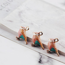 Buy New Style 30pcs/lot alloy drop oil animals cartoon 3D Birds shape floating locket charms diy jewelry pendants accessory for $17.09 in AliExpress store