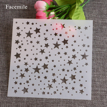 Bakeware Tool stars shape Cake Sides Stencils Environmental Plastic Spray Flower Cake Mould DIY Cake Mold Baking Tools 51107(China)