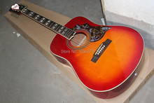 2015 New + Factory + Chibson hummingbird acoustic guitar cherryburst Hummingbird electric acoustic guitar with No stripe on back