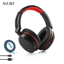 Super bass NiUB5 Wired +Wireless Bluetooth Headset Headset Microphone Headset 3.5 Audio Cable For Mobile Phone Computer TV