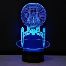 Star Trek 3D Night Light Children's bedroom lighting 7 Colors Changing LED Table Lamp Mini USB Desk Lampen Touch Switch Lampade(China)