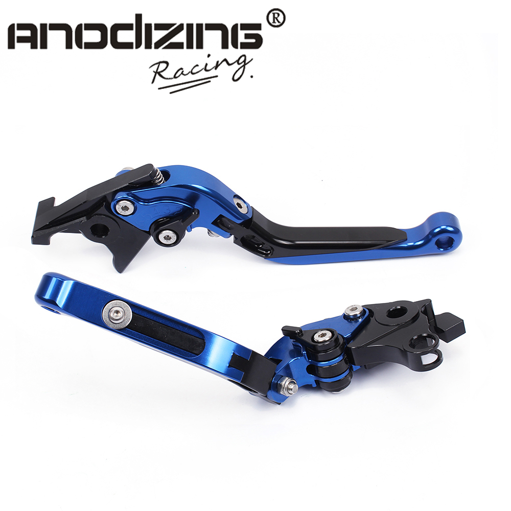 K-41 S-14 Adjustable CNC 3D Extendable Folding  For SUZUKI HAYABUSA/GSXR1300 2008-2017<br>