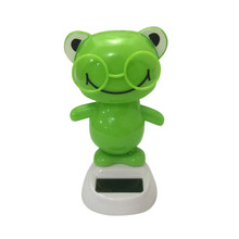 Solar Powered Dancing Animal Swinging Animated Bobble Dancer Toy Car Decor New(China)