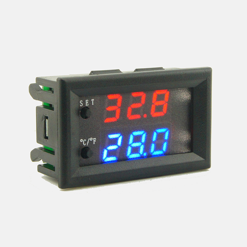 3 LED Display Digital Temperature Control Switch Thermostat Adjustable DC 12V
