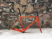 limited painting version Burned orange fasterway FACTOR O2 2018 year carbon road bike frameset:Frame+Seatpost+Fork+Clamp+Headset(China)