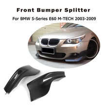 Buy 2PCS/Set Carbon Fiber Front Bumper Splitter Apron Flaps Fit BMW 5Series E60 M sport 2003-2009 Car Styling for $224.96 in AliExpress store