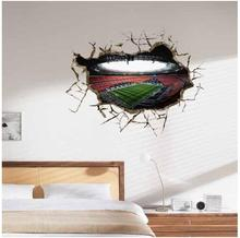 3D Wall Sticker World Cup Painting Kid's Room wall Paintings Bedroom World Cup Wallpaper Home Football Wall Stickers(China)