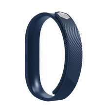 Hot sale Blue Soft Silicone Watch band Wrist strap For Fitbit Flex 2 Smart Watch Sporting Goods accessories Dec07(China)