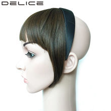 DELICE 50g Headband Blunt Bangs Fringe Neat With Temples High Temperature Fiber Synthetic Hair Accressories(China)
