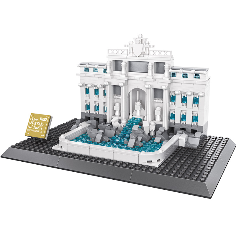 KAZI  Wishing Pool Of Rome Architecture Building Block Sets Model 640pcs Collectible Bricks Toys For Children Educational Gifts<br>