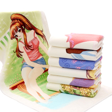 RUBIHOME Magic Towel Face Polyester Sexy Girl Meet Warm Water Change Color Good Gift for Friend 35x75cm(China)