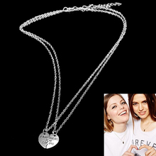 2017 New Brand Celebrity Best Friend Necklace 2 Parts Broken Heart Partners In Crime Necklaces & Pendants For Girlfriends Gifts