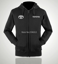 Autumn and winter season car logo coat car aftermarket clothing Toyota repair shop zipper hooded sweatshirts overalls