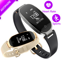 ADORARE S3 Smart Watch Bluetooth Sports Bracelet Sleep Heart Rate Monitor Smart Wristband Fitness Tracker For Girl Women Lady(China)